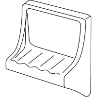 surface mount soap dish